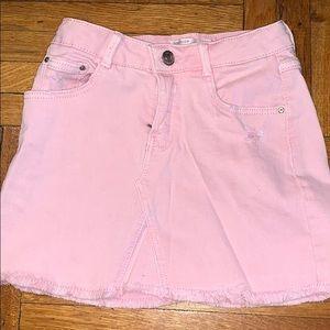 Pink denim skirt from Zara